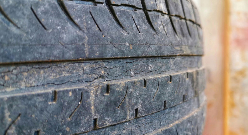 Cracked Tyres